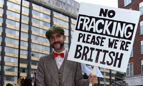 no fracking british
