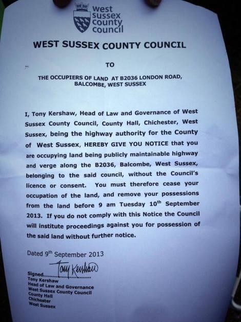 balcombe notice